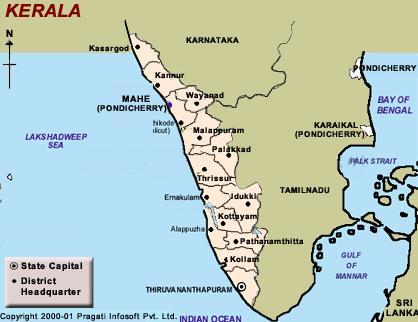 District Map of Kerala
