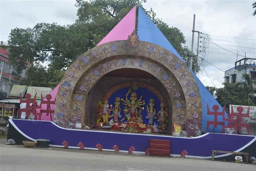 Maa Durga in Agartala
