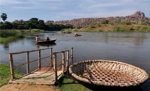 Tungabadra River in Hampi