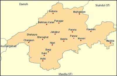 Geographical features of Jabalpur