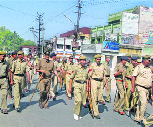 Police Officials in the city of Panipat