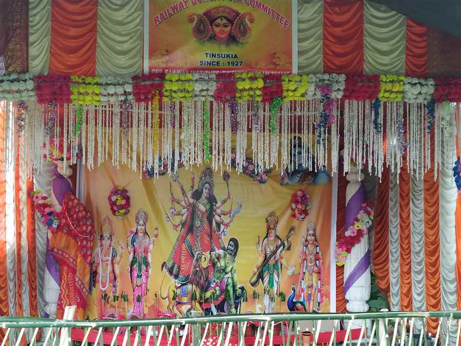 Railway Durga Puja Pandal in Tinsukia