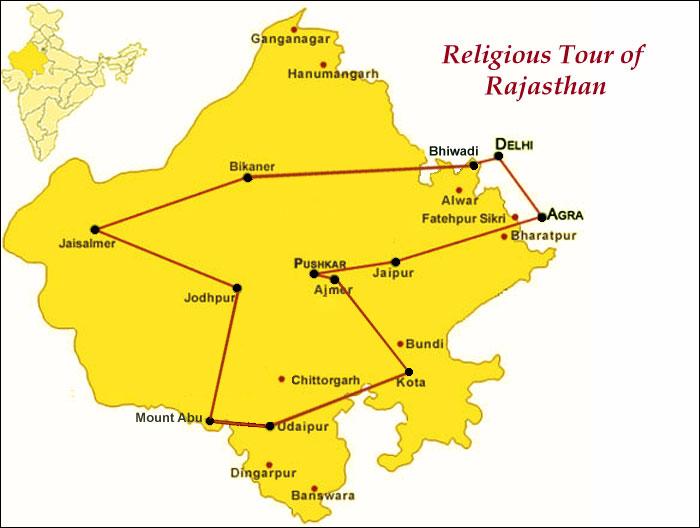 Religious Tour Map
