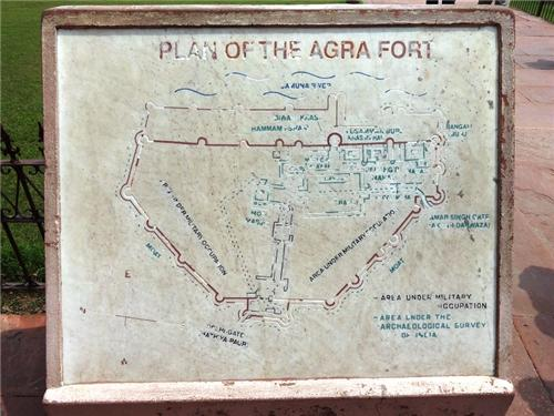 Agra Fort Map