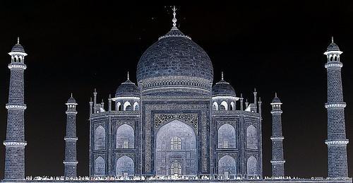 Recent Studies Black Taj Mahal Agra