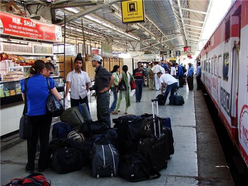 Boarding Train at Ahmedabad Railway Station