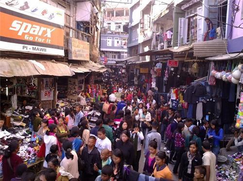 Aizawl Market During Christmas