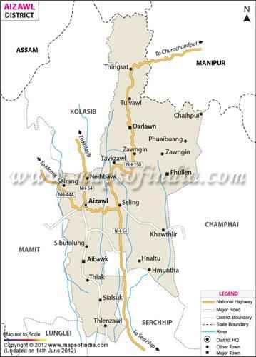 Aizawl Geography