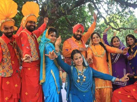 Folk Dancers in Ajitgarh