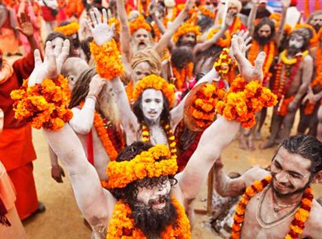 Naga Sadhus at Allahabad Kumbh Mela