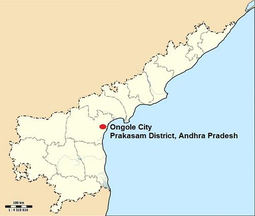 Ongole City in Andhra Pradesh