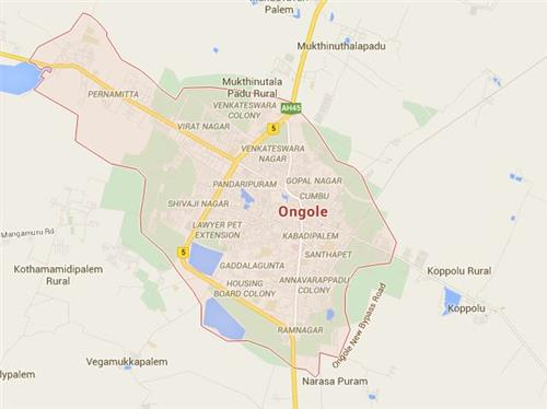 Map of Ongole