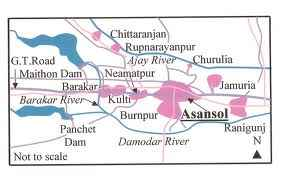 Map of Asansol