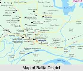 Ballia map
