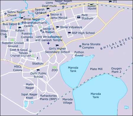 Bhilai Geography