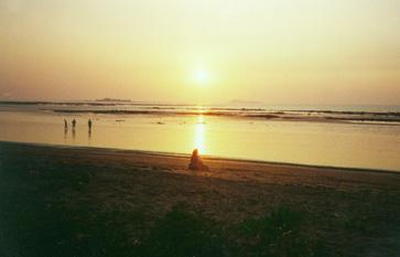 Kihim beach at sunset