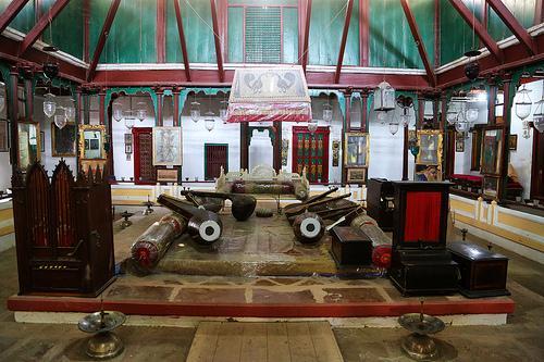 Inside the Aina Mahal in Bhuj