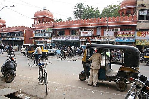 Station Road Market in Bikaner