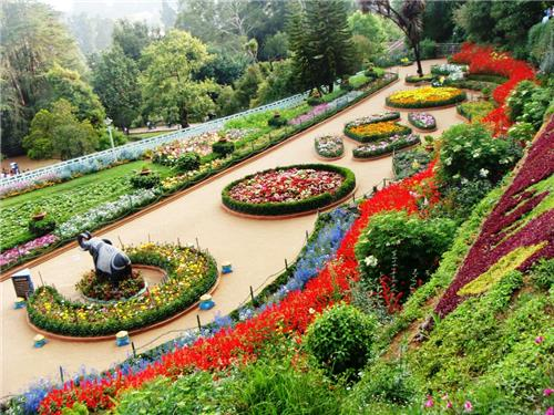 Amazing and Alluring view of Rose Garden premises in Chandigarh