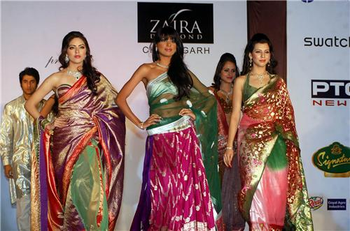 Models on the ramp at a fashion event in Chandigarh