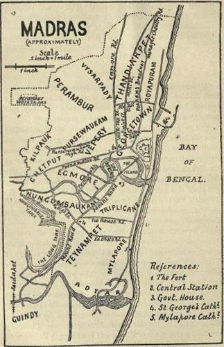 Madras Map in 1921