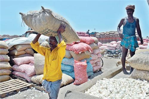 Workers at Koyambedu