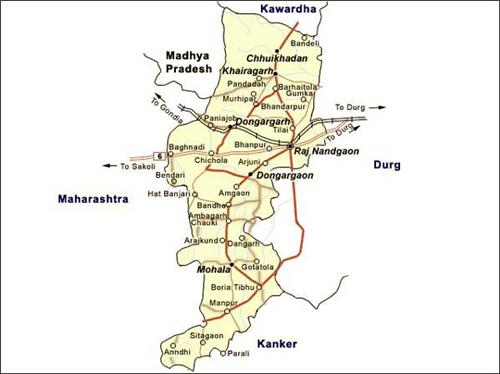 Geographical features of Rajnandgaon