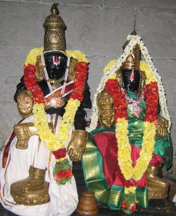 The diety at the Kothandaramar Temple, Salem