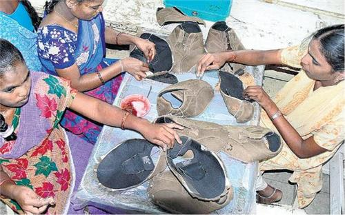 Leather market in Vellore