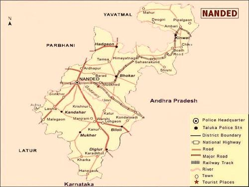 Localities and areas in Nanded