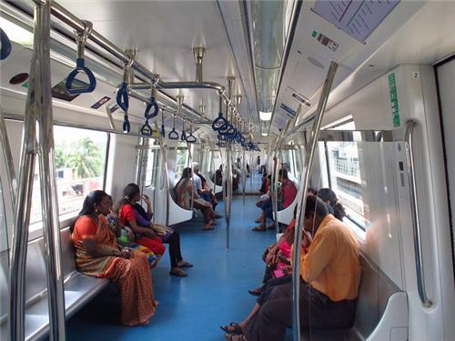 Inside the Bangalore Metro