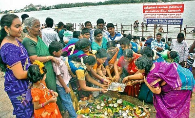 Festivities at Amma Mandapam Ghat