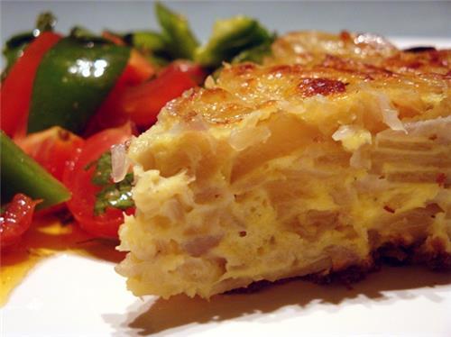 Spanish Omelet at the Egg Factory Restaurant