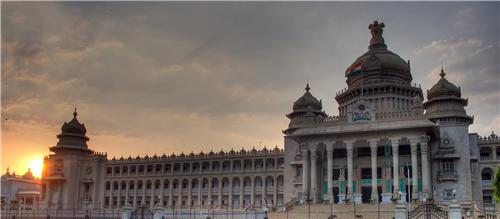 An evening at Vidhan Soudha
