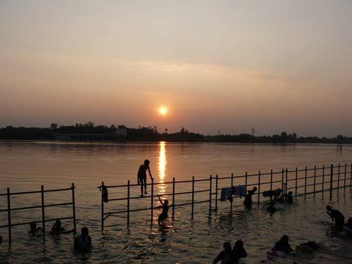 Dip in holy waters of Kaveri