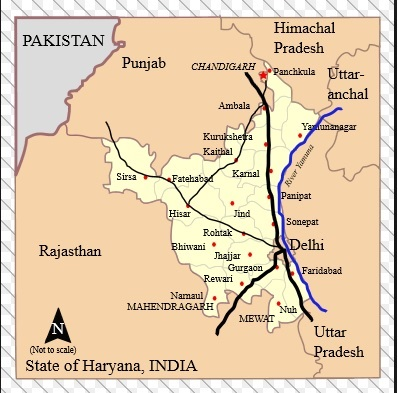 Geography of Thanesar