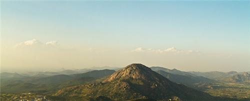 enthralling view of the Nandi hills