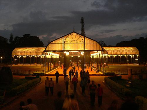 the beautiful Lal Bagh in evening
