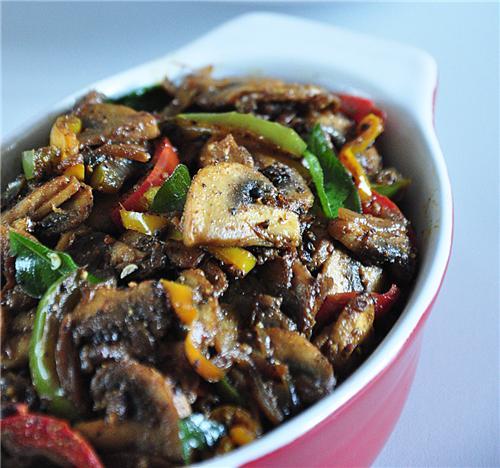 Famous Mushroom fry dish of Coimbatore