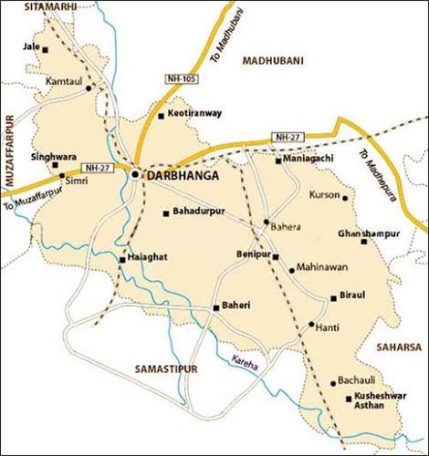 Geography of Darbhanga