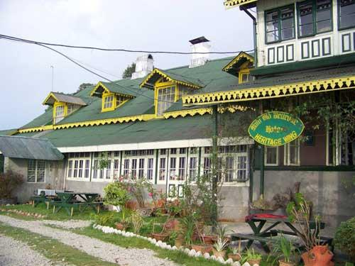 Beautiful Exterior of Olde Main Bellevue Heritage Hotel in Darjeeling