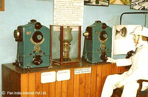 A token block machine at the Rail Museum