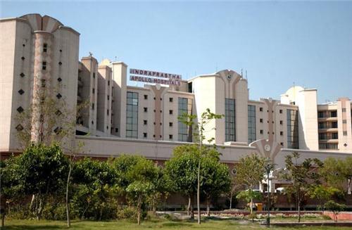 Outside View of Indraprastha Apollo Hospital Delhi