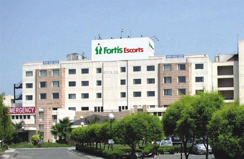 Outside view of Fortis Escorts Heart Institute & Research Centre