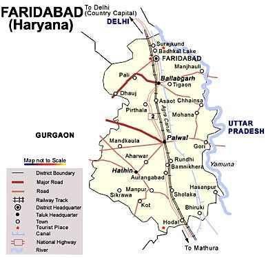 localities of faridabad