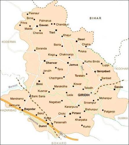 Geography of Giridih