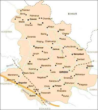 Geography of Giridih