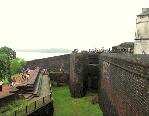 Side View of the Fort of Aguada at Goa-Credit Trip Advisor