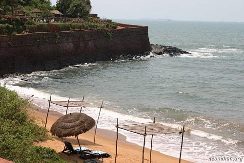 Aguada Beach in Goa