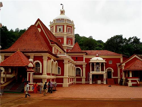 Frontview of the Shree Shnatadurga Temple of Ponda-Credit Google